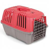 Mps Pratico 1 Контейнер Для Транспортировки Животных С Металлической Дверцей, Красный.
