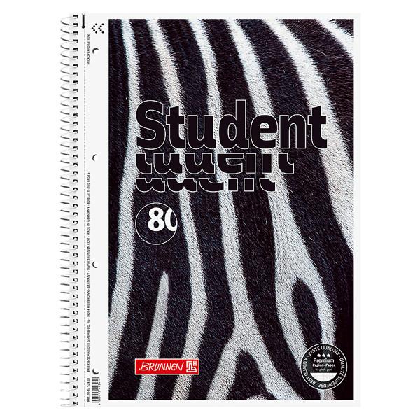 Коледж-блок А4 Premium, клетка, Zebra