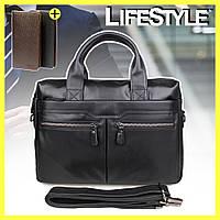 Мужская сумка из натуральной кожи Westal A4 + Подарок