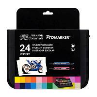Набор двухсторонних маркеров, Promarker, 24 шт, W&N