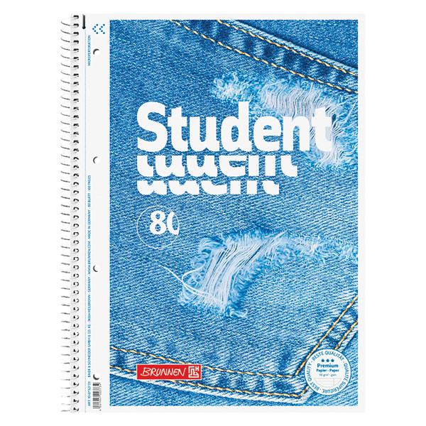 Колледж-блок А4 Premium, линейка, Jeans