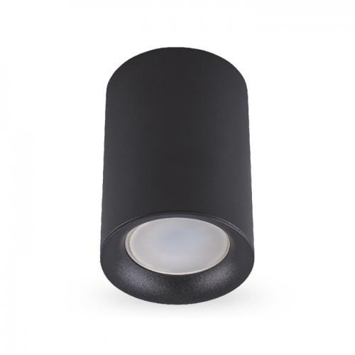Накладной светильник цилиндр Feron ML174 под лампу MR16 GU10 черный 70*110мм