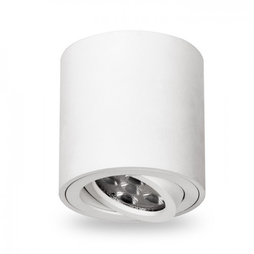 Накладной поворотный светильник цилиндр Feron ML302 под лампу MR16 GU10 белый 80*90мм