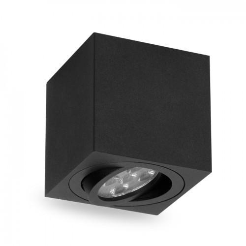 Накладной поворотный светильник квадрат Feron ML303 под лампу MR16 GU10 черный 80*80*90мм