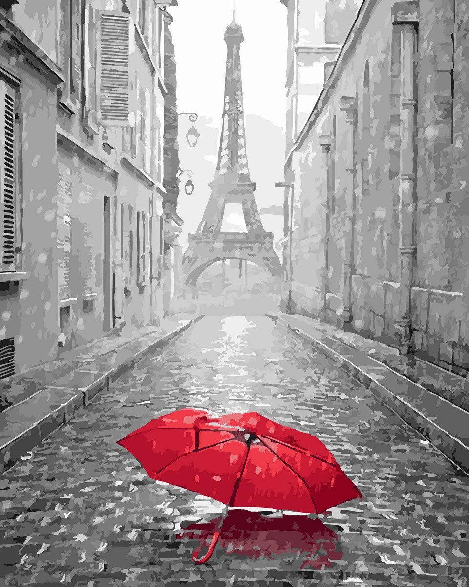 Живопись по номерам Парижский зонтик BK-GX23824 Rainbow Art 40 х 50 см (без коробки)