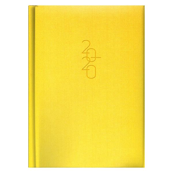 Ежедневник карманный датированный BRUNNEN 2020 Tweed желтый