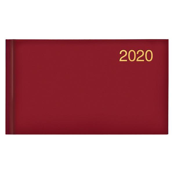 Еженедельник карманный датированный BRUNNEN 2020 Miradur Trend красный