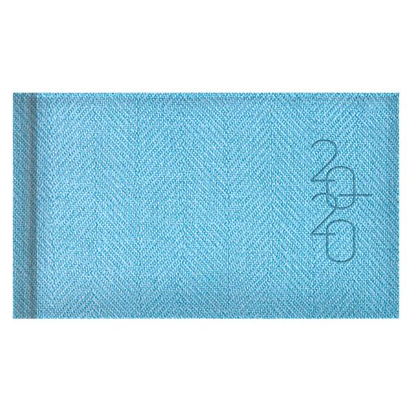 Еженедельник карманный датированный BRUNNEN 2020 Tweed голубой
