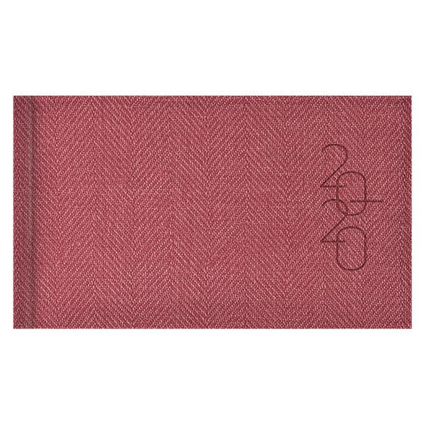 Еженедельник карманный датированный BRUNNEN 2020 Tweed красный