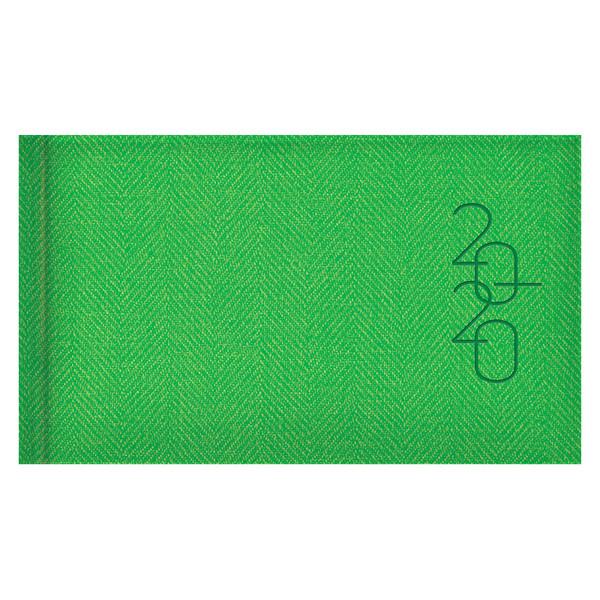 Еженедельник карманный датированный BRUNNEN 2020 Tweed светло-зеленый