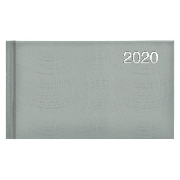 Еженедельник карманный датированный BRUNNEN 2020 Wave, серебряный