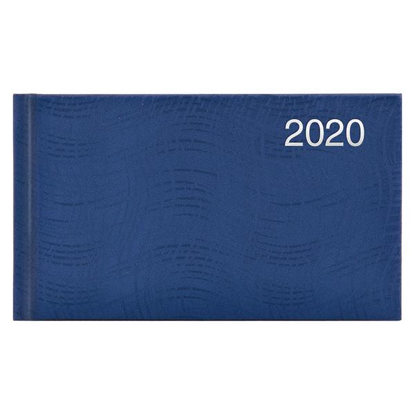 Еженедельник карманный датированный BRUNNEN 2020 Wave, синий