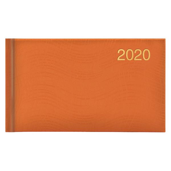 Еженедельник карманный датированный BRUNNEN 2020 Wave, оранжевый