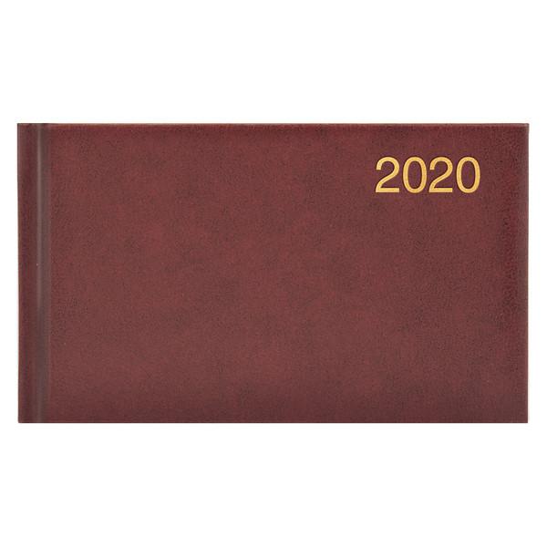 Еженедельник карманный датированный BRUNNEN 2020 Miradur, бордовый