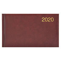 Еженедельник карманный датированный BRUNNEN 2020 Miradur, бордовый, фото 1