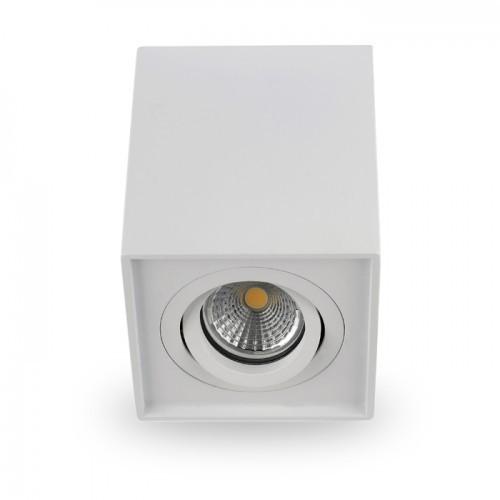 Накладной поворотный светильник квадрат Feron ML305 под лампу MR16 GU10 белый 98*98*125мм