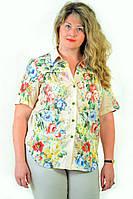 Блуза женская из хлопка стрейчевая , бл 056-3 ,48-56