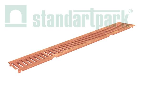 Решетка водоприемная Basic РВ-10.14.100 штампованная медная 2060