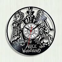 Часы для девочек Алиса в Стране чудес Часы виниловые Часы в детскую комнату Alice in wonderland Декор холла