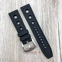 Ремешок для часов Breitling 22 мм черный застежкой (08215), фото 1