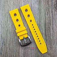 Ремешок для часов Breitling 22 мм желтый застежкой (08217), фото 1