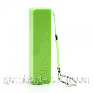 Портативное зарядное устройство PowerBank 2600 Зеленый