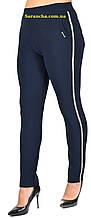 Жіночі класичні штани синього кольору великих розмірів