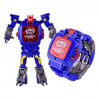 Детская игрушка Robot Watch часы робот трансформер 2 в 1 Blue