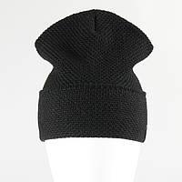 Зимняя модная шапка лопата рожки KANTAA черный