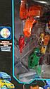 Робот трансформер Тобот Мини Гига 9+ — высота 26 см, 6 машин, вертолет, катапульта, свет, фото 3