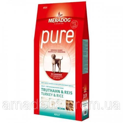 Mera Dog Pure Adult Гипоалергенный Корм Для Взрослых Собак (Индейка+Рис), 12.5 Кг