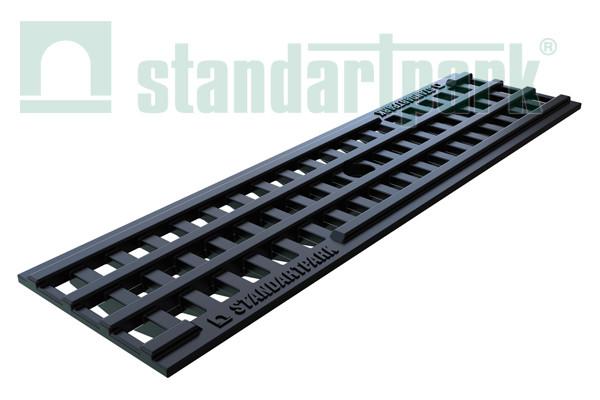 Решетка водоприемная PolyMax Basic РВ-10.14.50 ячеиста пластиковая 20801