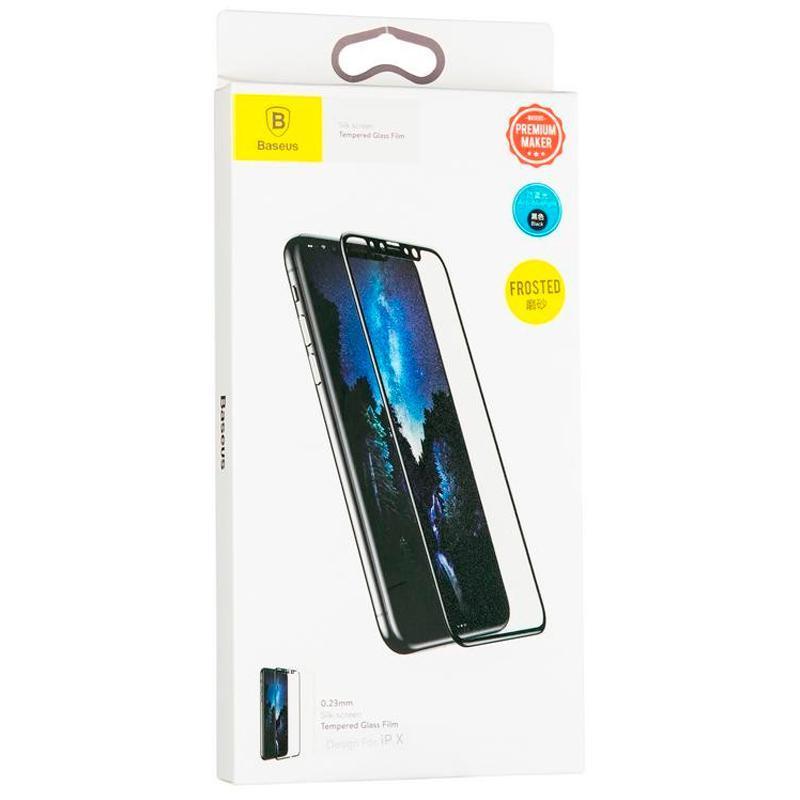 Защитное стекло Baseus (OR) All-Screen Anti-Blue iPhone XR (SCAPIPH61-HE01) Black (0.2mm)