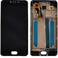 LCD Meizu M3s + touch + frame Black Original