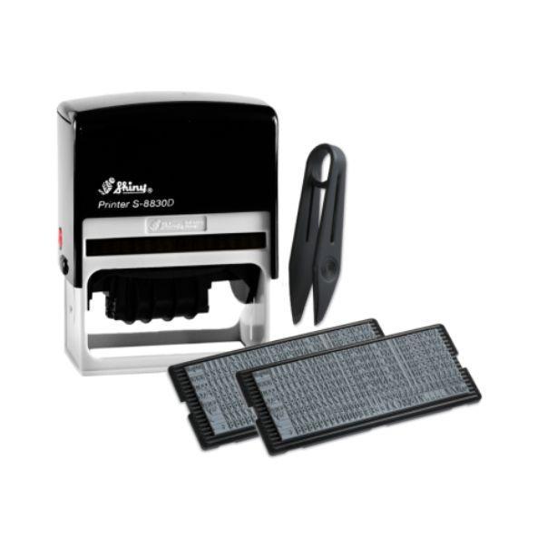 Самонаборный датер Shiny S-8830D, 6-ти строчный, 38х75 мм
