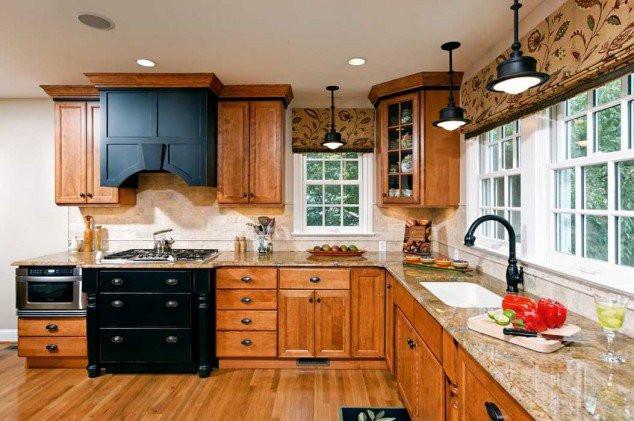 Красивые римские шторы в кухню
