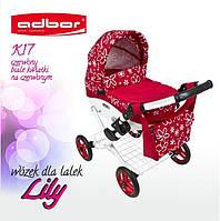 Детская коляска для кукол Adbor Lily Дитяча коляска для ляльок ПОЛЬША