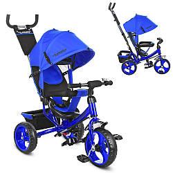Велосипед M 3113-14 (1шт)три кол.EVA (12/10),колясочный,торм.,подшипн,звонок,син.индиго
