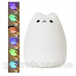 Ночной светильник LED Силиконовый Котик UTM