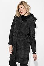 Пальто зимнее женское однотонное, теплое AG-0008476 Черный