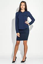 Блуза женская приталенная AG-0007009 Темно-синий