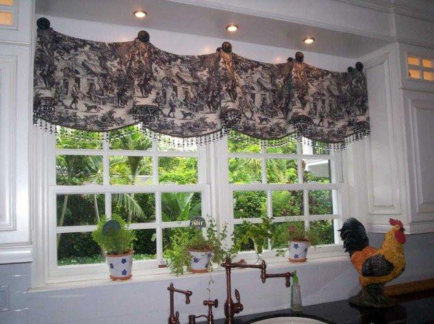 Оригинальные шторы на кухню