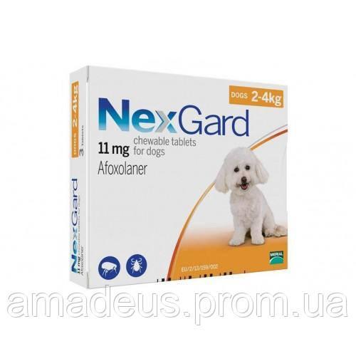 Таблетки Boehringer Ingelheim Nexgard От Блох И Клещей Для Собак S (2-4 Кг) (1 Таблетка)