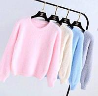 Женский стильный пушистый свитерок, фото 1