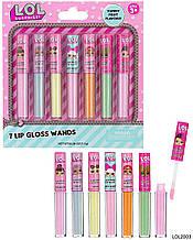 Лол LOL сюрприз детский блеск для губ помада с ароматом 7 штук L.O.L. Surprise! 7 Flavored Lip Gloss Wands