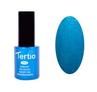 Гель-лак Tertio Небесно-голубой с микроблеском №076 10 мл