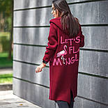 """Женский кардиган с капюшоном и надписью на спине """"Let's flamingo"""" (в расцветках), фото 4"""
