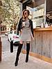 Платье мини с небольшой юбкой,шерсть/хлопок//полиэстр.  Размер:42-46. Цвет: бежевый. (1184), фото 3