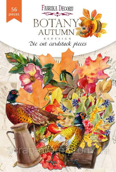 """Набор высечек, коллекция """"Botany autumn redesign"""", 56шт для хобби и творчества"""