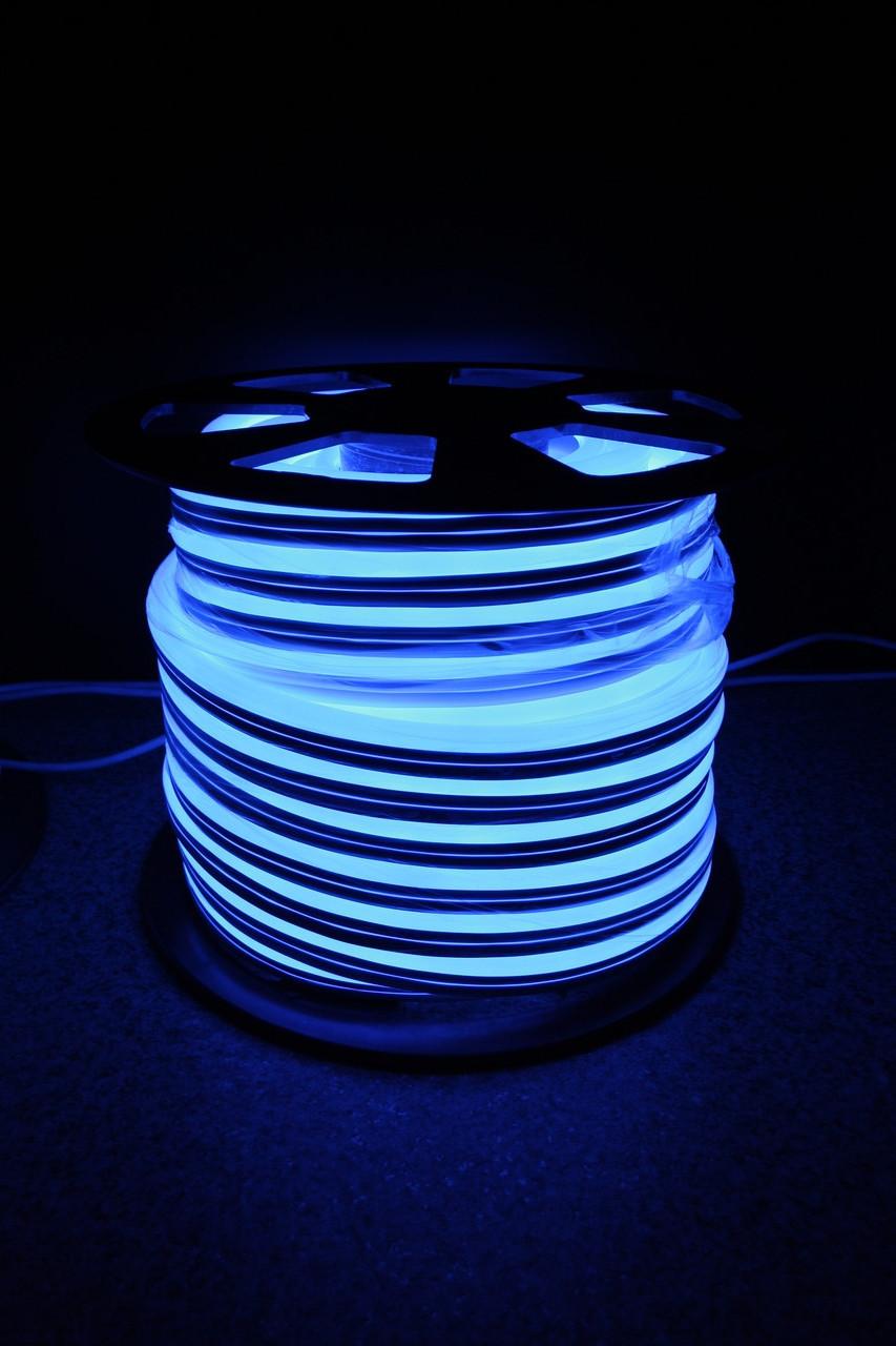 Уличный световой шнур Lumion 220V SMD NEON FLEX 15*26мм, 81 светодиода/м.п., 50м/ рул цвет синий